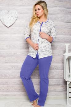 Damen Pyjamas  2126 blue