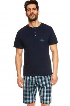Herren Pyjamas 36830 Urge dark blue